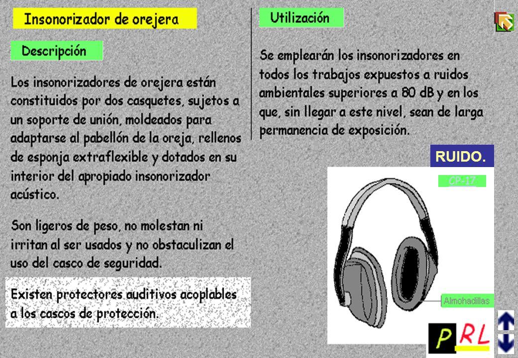 CP-16 ¿Está el trabajador expuesto frecuentemente a niveles de ruido elevado o a ruidos producidos por golpes? Al comprar máquinas y demás equipos de