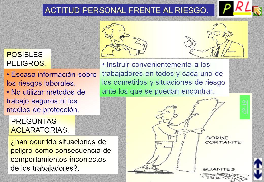 CP-18 POSIBLES PELIGROS.AGENTES FÍSICOS. PREGUNTAS ACLARATORIAS.