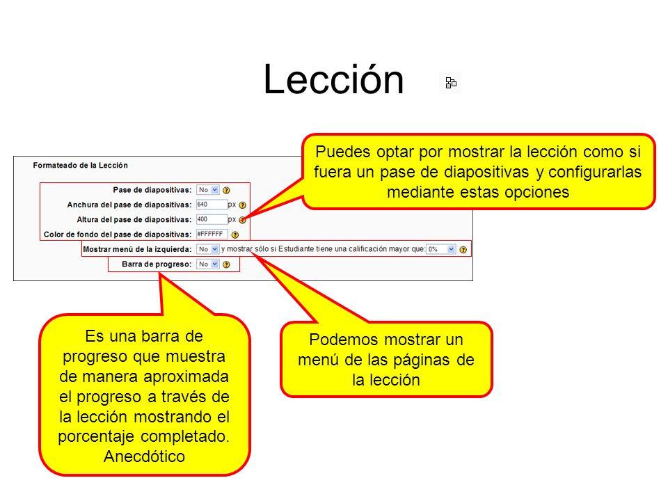 Lección: añadir una página de preguntas Lo primero que nos encontramos es con la posibilidad de utilizar diferentes tipos de pregunta/respuestas.
