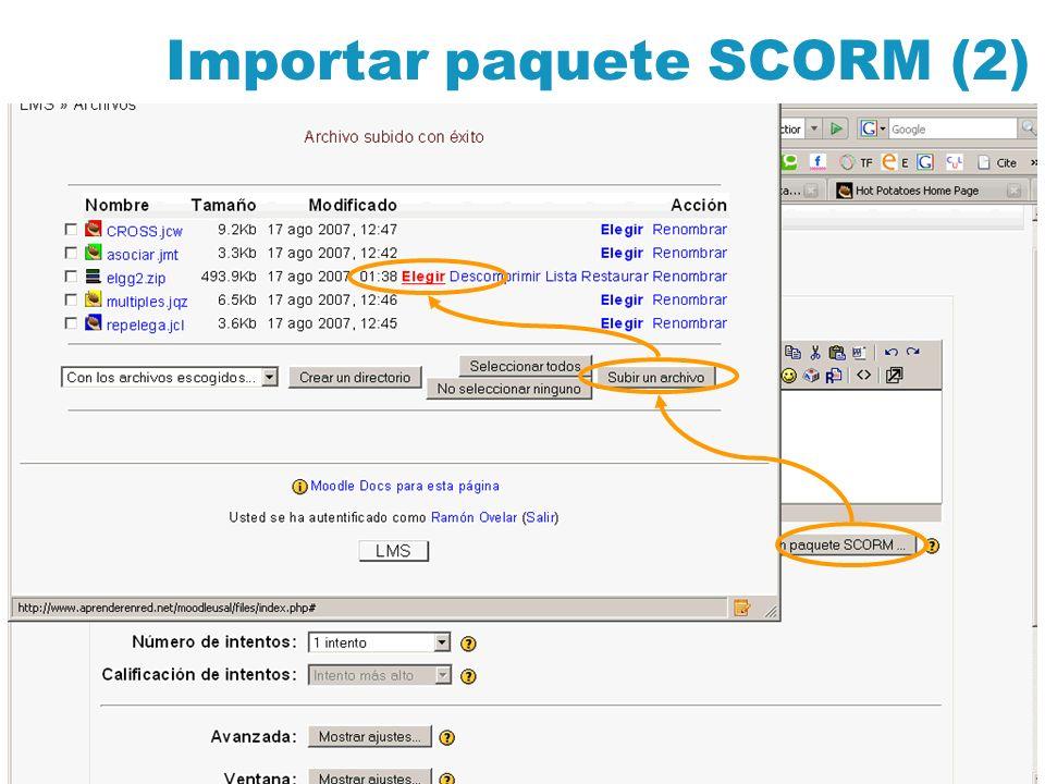 Importar paquete SCORM (2)