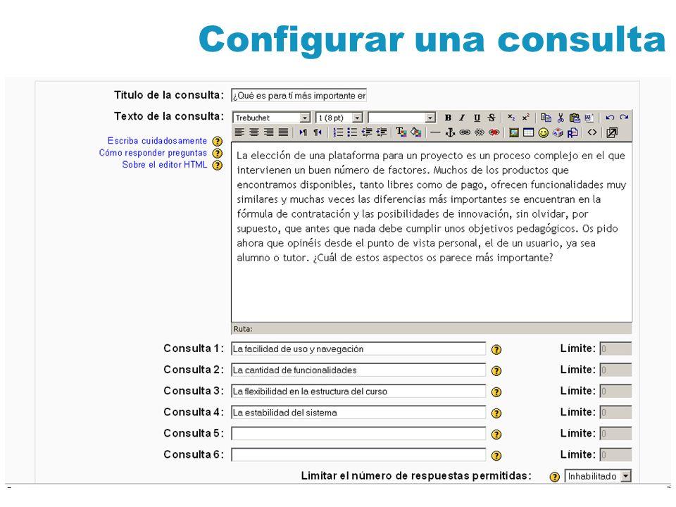 Configurar una consulta