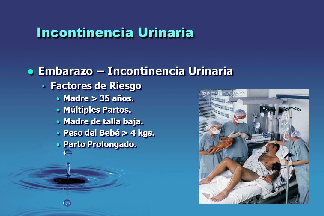 Incontinencia Urinaria Embarazo – Incontinencia Urinaria Embarazo – Incontinencia Urinaria Factores de Riesgo Factores de Riesgo Madre > 35 años.Madre