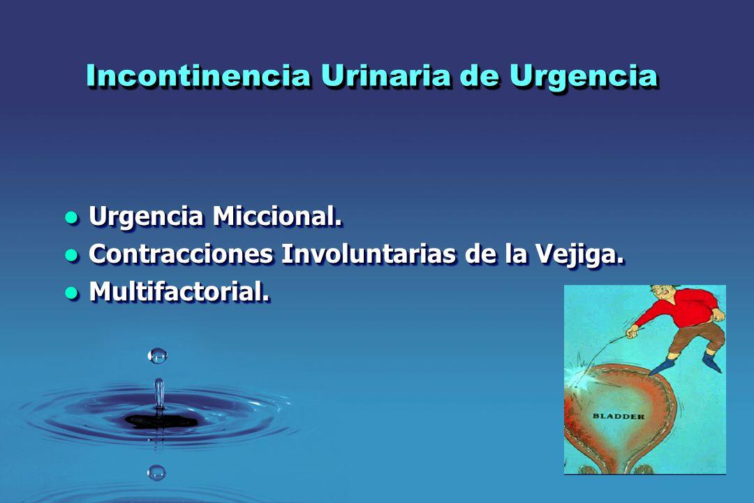 Incontinencia Urinaria de Urgencia Urgencia Miccional. Urgencia Miccional. Contracciones Involuntarias de la Vejiga. Contracciones Involuntarias de la