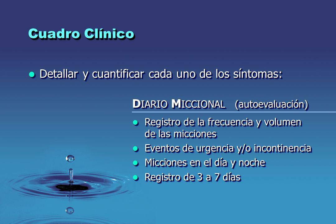 Cuadro Clínico Detallar y cuantificar cada uno de los síntomas: Detallar y cuantificar cada uno de los síntomas: D IARIO M ICCIONAL (autoevaluación) R
