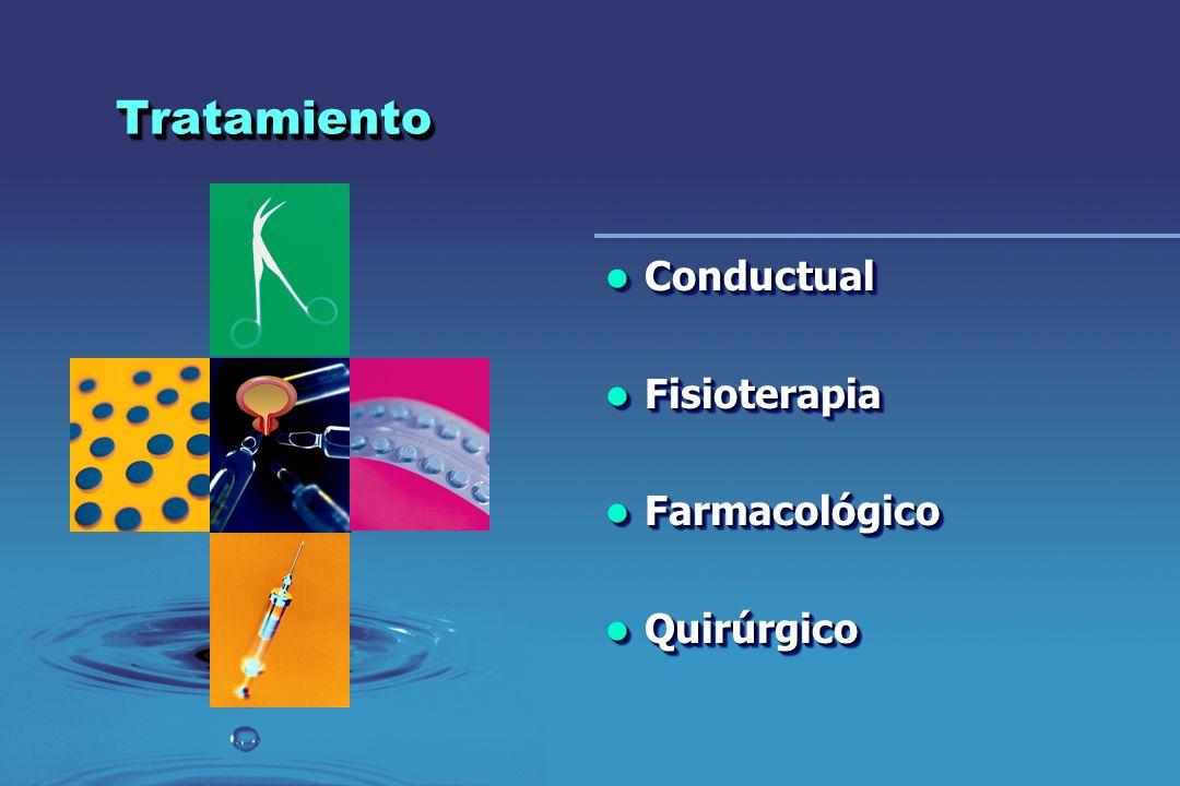 TratamientoTratamiento Conductual Conductual Fisioterapia Fisioterapia Farmacológico Farmacológico Quirúrgico Quirúrgico Conductual Conductual Fisiote