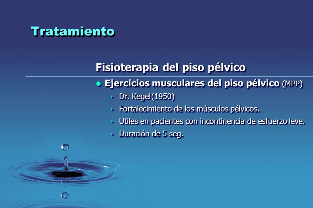 TratamientoTratamiento Fisioterapia del piso pélvico Ejercicios musculares del piso pélvico (MPP) Ejercicios musculares del piso pélvico (MPP) Dr. Keg