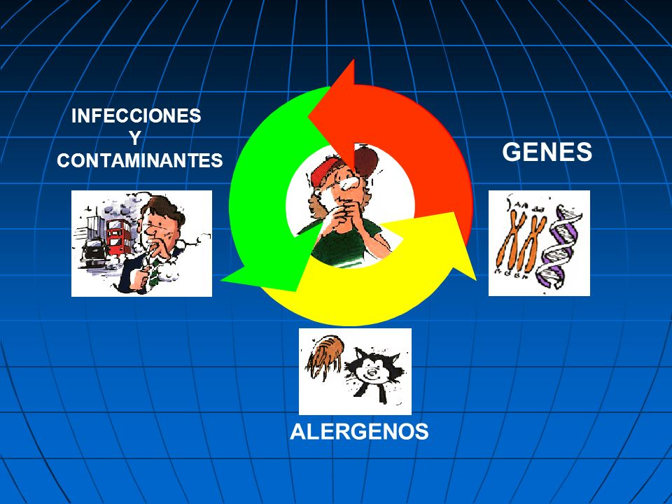 INFECCIONES Y CONTAMINANTES GENES ALERGENOS