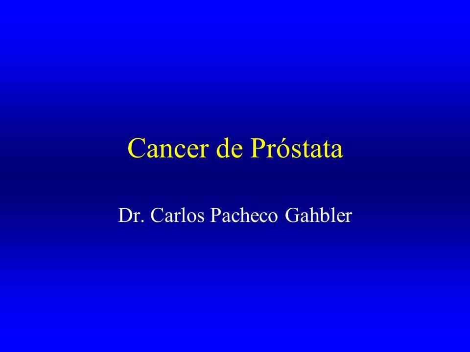 Epidemiología En México, entre todos los tipos de cáncer, el de próstata ocupa el segundo lugar como causa de muerte después del cáncer en el aparato respiratorio.
