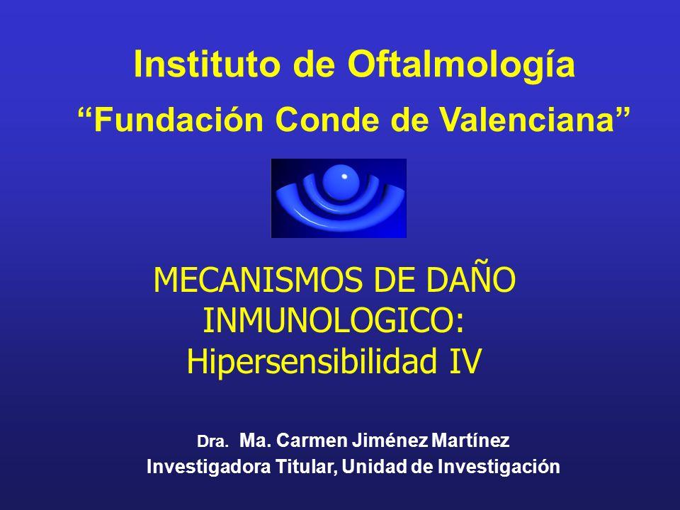 Instituto de Oftalmología Fundación Conde de Valenciana Dra. Ma. Carmen Jiménez Martínez Investigadora Titular, Unidad de Investigación MECANISMOS DE