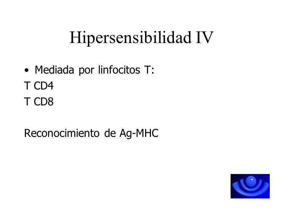Mediadas por AnticuerposMediada por Linfocitos T
