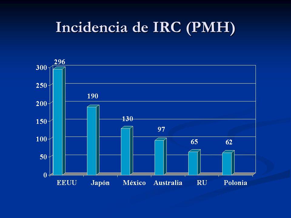 Tratamiento IRC Desequilibrio metabólico Causa Directa Causa Directa Bicarbonato de Sodio Bicarbonato de Sodio Diálisis Diálisis