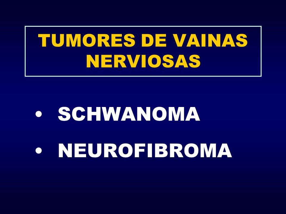 TUMORES DE VAINAS NERVIOSAS SCHWANOMA NEUROFIBROMA