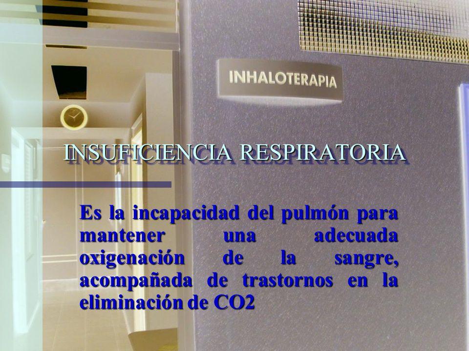 Inhaloterapia: Es el tratamiento complementario por inhalación tanto de medicamentos como humedad y O2 para restaurar la función pulmonar o para mante