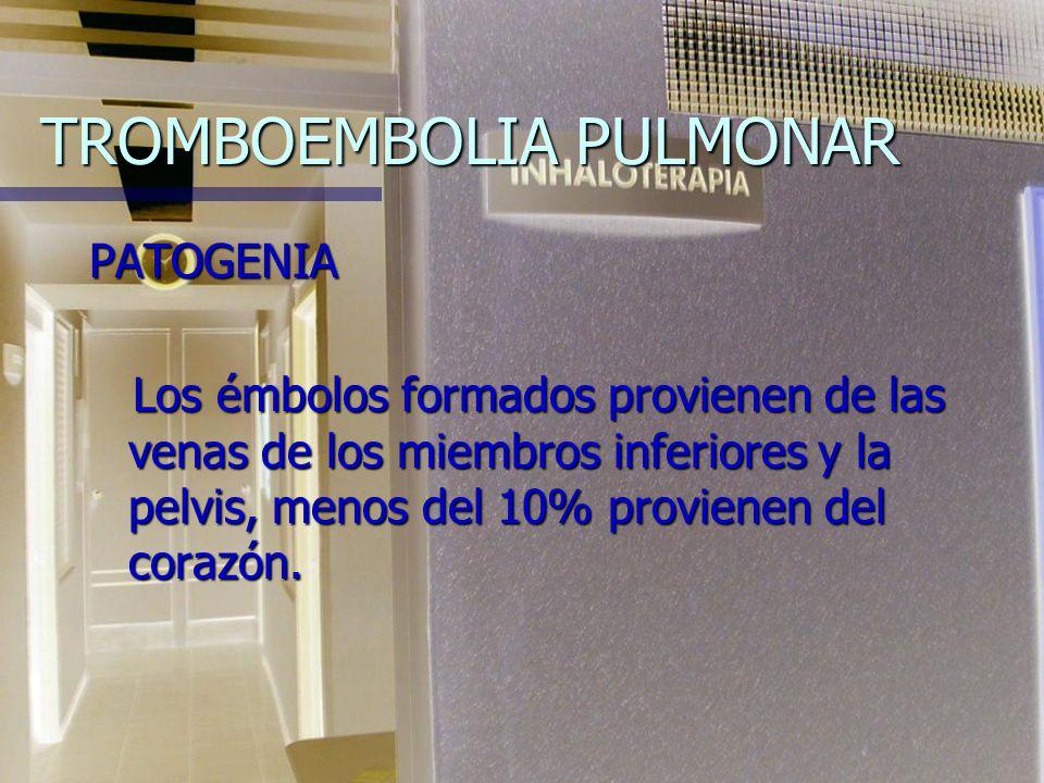 TROMBOEMBOLIA PULMONAR DEFINICION: Es el estado clínico y anatomopatológico generado por la interrupción del riego sanguíneo de una porción del pulmón
