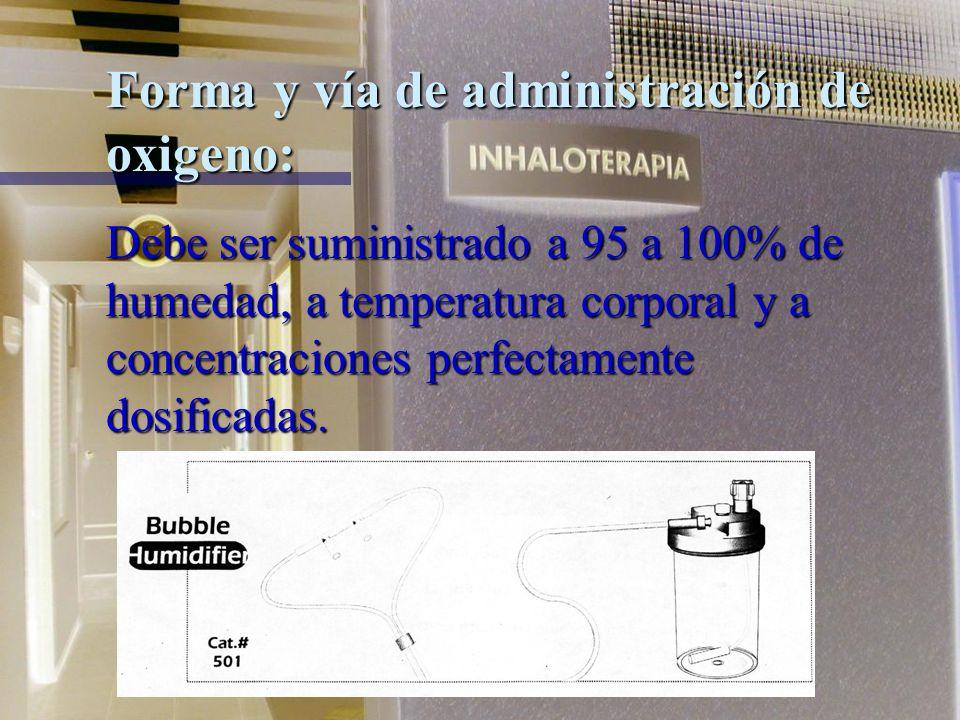 Indicación de oxigenoterapia: Está indicado en aquellos procesos patológicos que conducen a hipoxia.