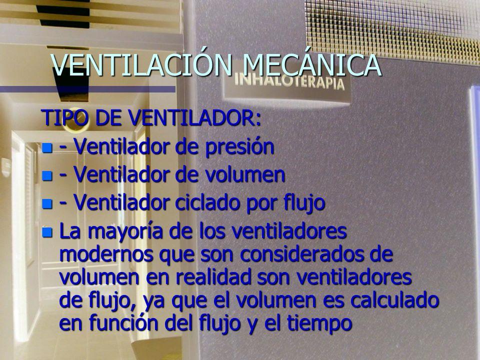 VENTILACIÓN MECÁNICA Un ventilador puede ser considerado como una caja negra a la que ingresa información de lo que queremos que haga y sale un produc