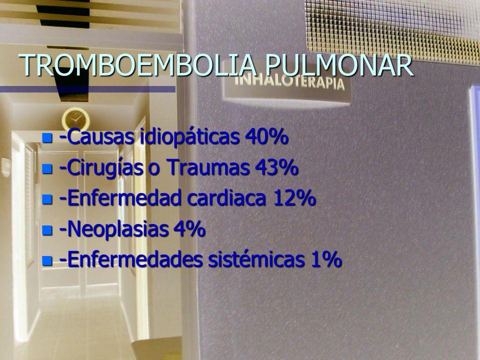 TROMBOEMBOLIA PULMONAR TRATAMIENTO n Heparina.n Anticoagulantes orales.
