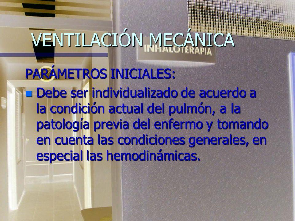 VENTILACIÓN MECÁNICA MODO VENTILATORIO n 5- Modo presión soporte: el ventilador inicia la asistencia al registrar un cambio de presión originado por e