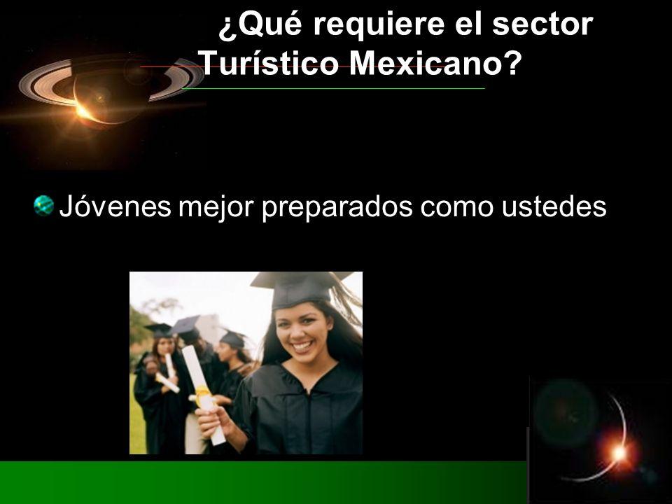 Jóvenes mejor preparados como ustedes ¿Qué requiere el sector Turístico Mexicano