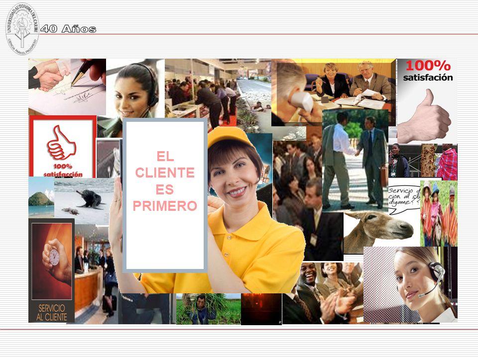 Posibles clientes nos contactan Prestamos el servicio El servicio satisface las expectativas del cliente La organización tiene éxito VUELVEN POR MÁS