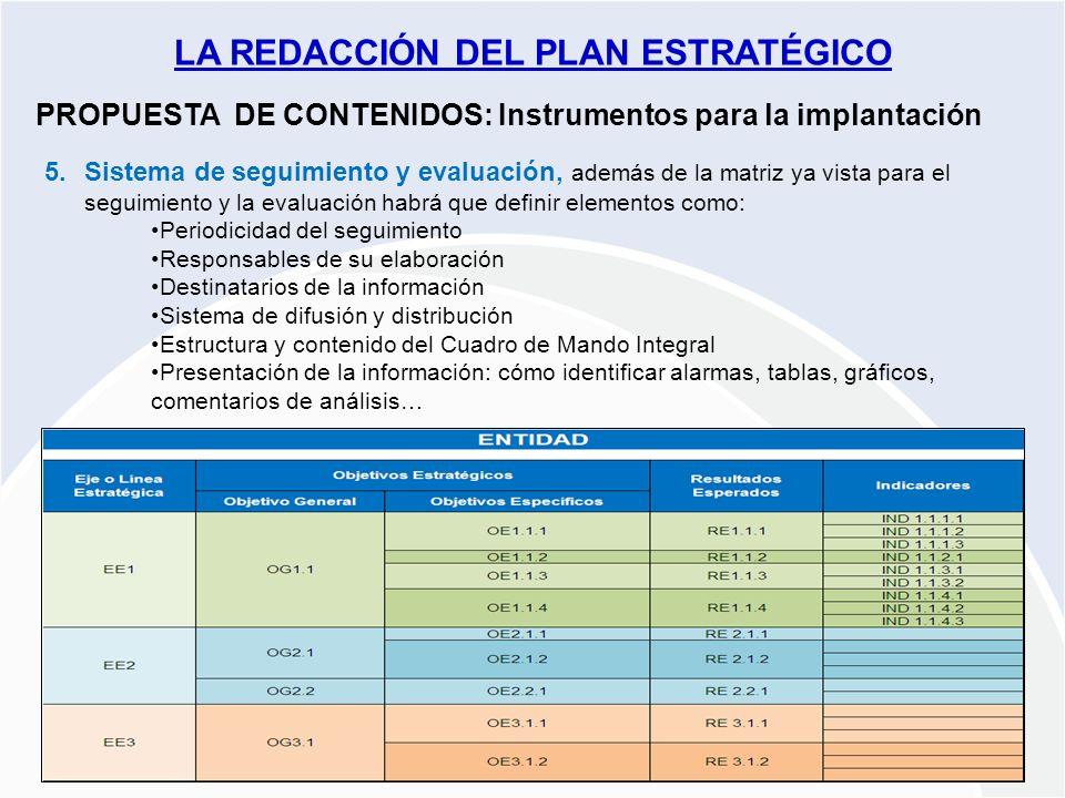 Proyecto PLANES ESTRATÉGICOS REDES ARAGÓN 2009-2010 PROPUESTA DE CONTENIDOS: Instrumentos para la implantación 5.Sistema de seguimiento y evaluación,