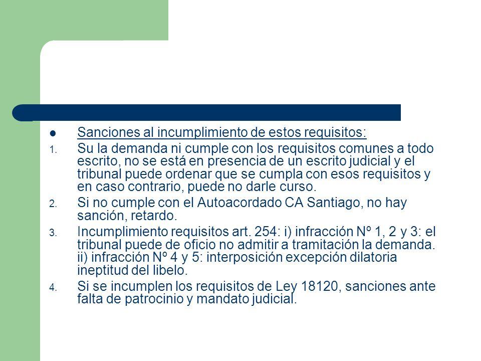 IV.Ineptitud del libelo: Relación con art 254 CPC.