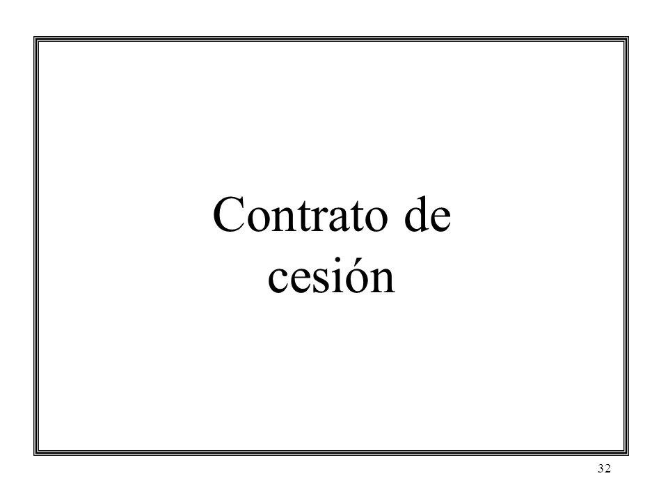 32 Contrato de cesión