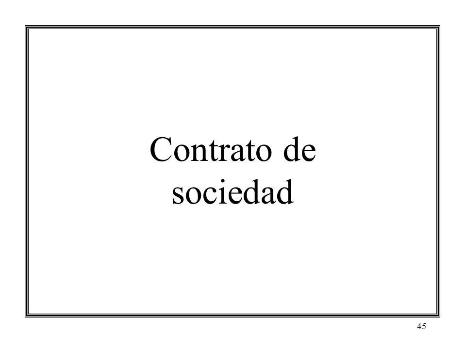 45 Contrato de sociedad