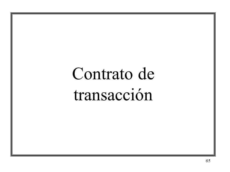 65 Contrato de transacción