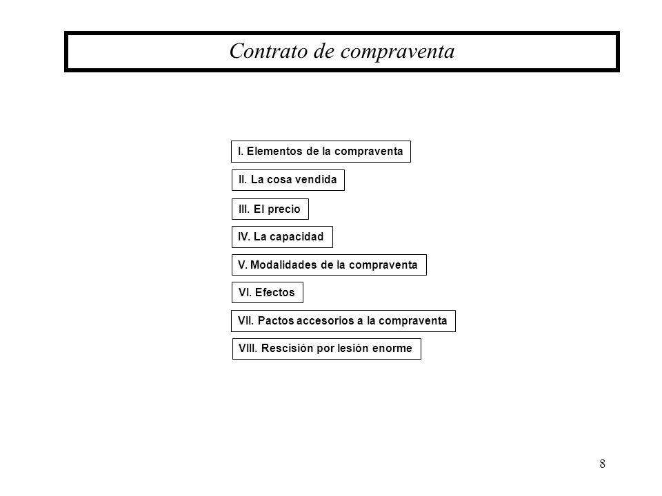 29 Pactos accesorios a la compraventa VII.