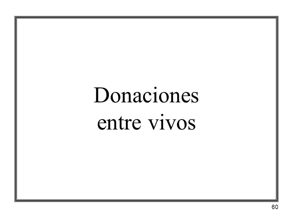 60 Donaciones entre vivos