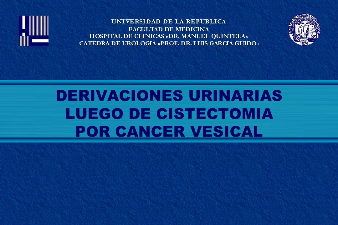 Derivación Urinaria Ortotópica en la Mujer Invasión submucosa respetando el epitélio Carcinoma in situ a nivel del epitélio Carcinoma in situ a nivel de G.