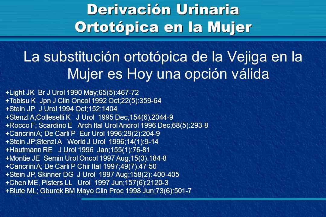 Derivación Urinaria Ortotópica en la Mujer La substitución ortotópica de la Vejiga en la Mujer es Hoy una opción válida +Light JK Br J Urol 1990 May;6
