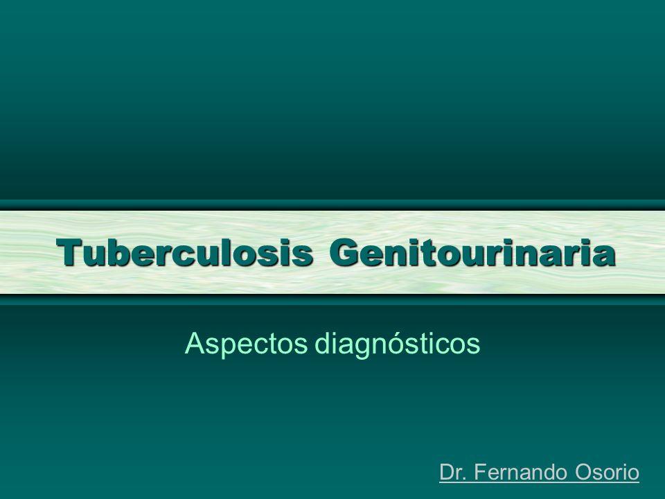 Tuberculosis Genitourinaria Aspectos diagnósticos Dr. Fernando Osorio
