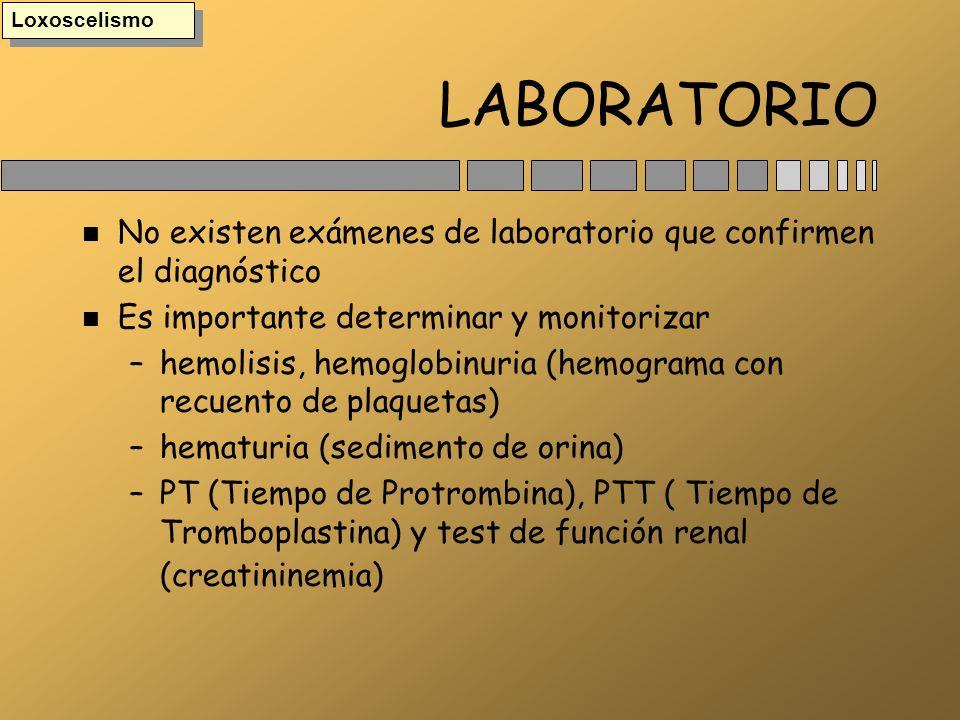 LABORATORIO n No existen exámenes de laboratorio que confirmen el diagnóstico n Es importante determinar y monitorizar –hemolisis, hemoglobinuria (hem