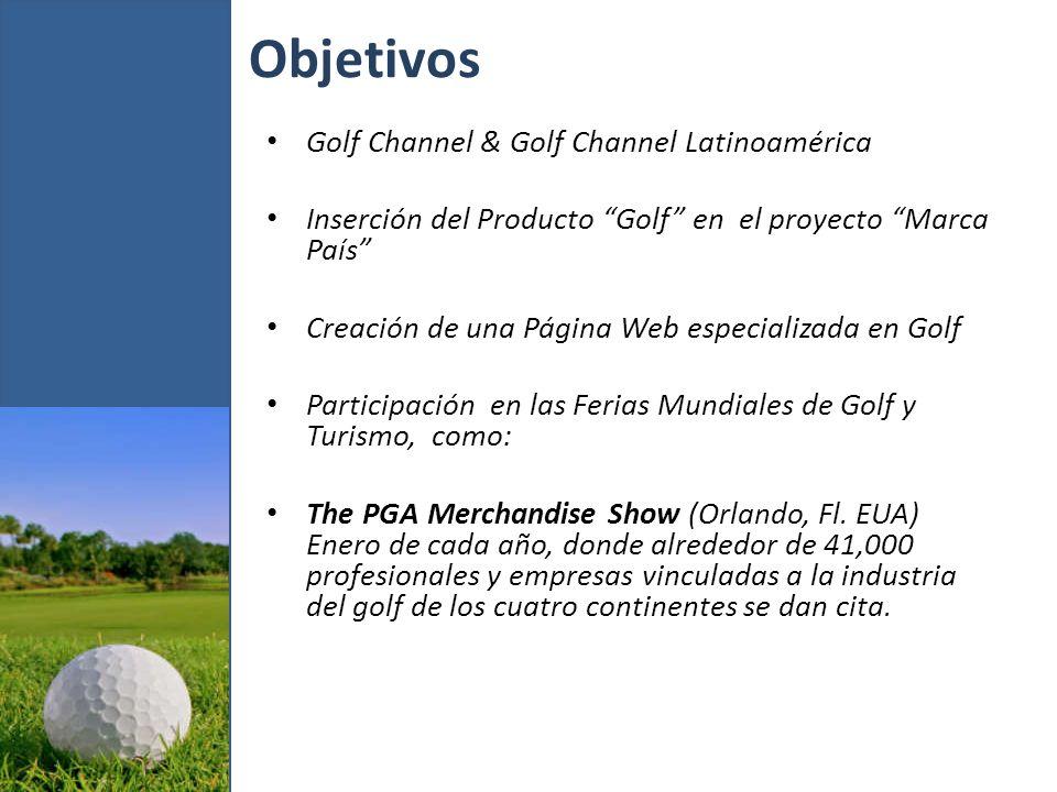 Otras acciones Participar en la International Golf Travel Market, IATGO cada año, u otras de interés, tales como: World Travel Market/WTM.