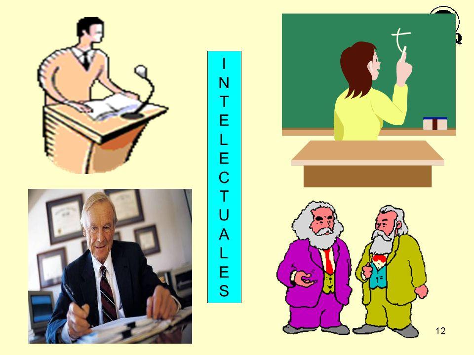 12 INTELECTUALESINTELECTUALES