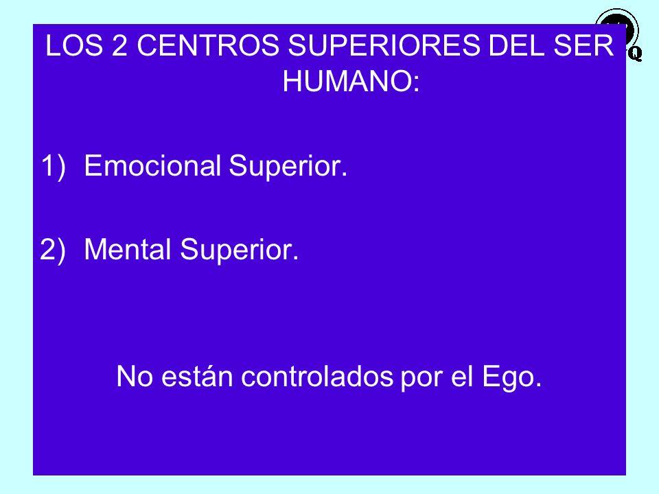 21 LOS 2 CENTROS SUPERIORES DEL SER HUMANO: 1)Emocional Superior. 2)Mental Superior. No están controlados por el Ego.