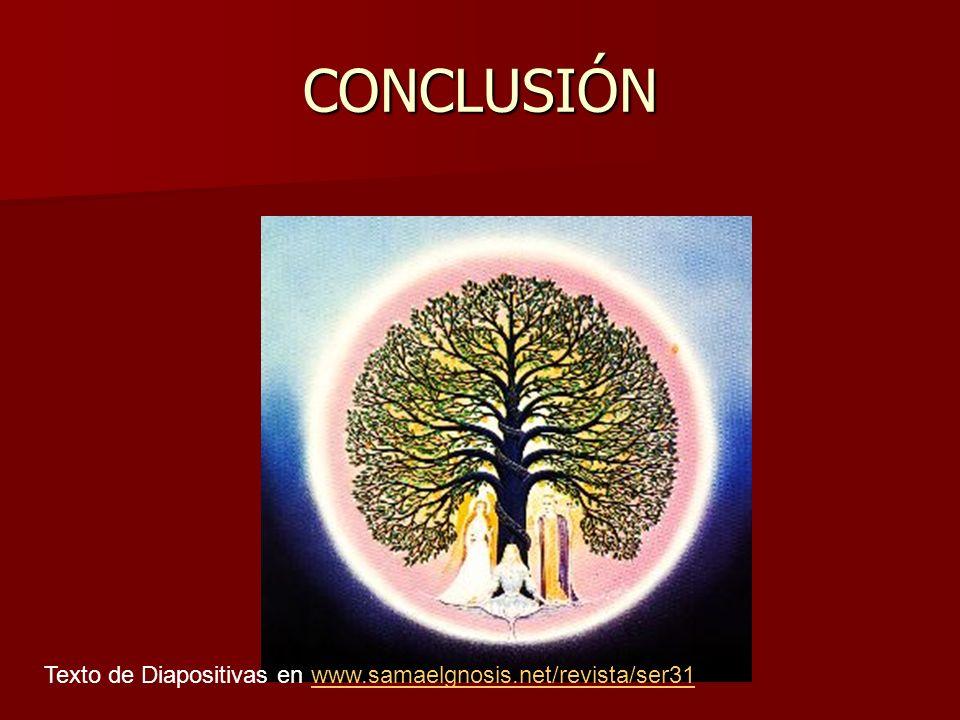 CONCLUSIÓN Texto de Diapositivas en www.samaelgnosis.net/revista/ser31www.samaelgnosis.net/revista/ser31