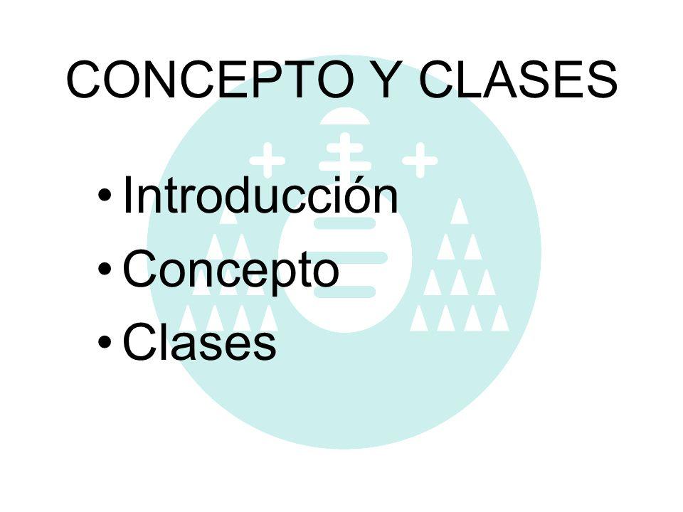 CONCEPTO Y CLASES Introducción Concepto Clases