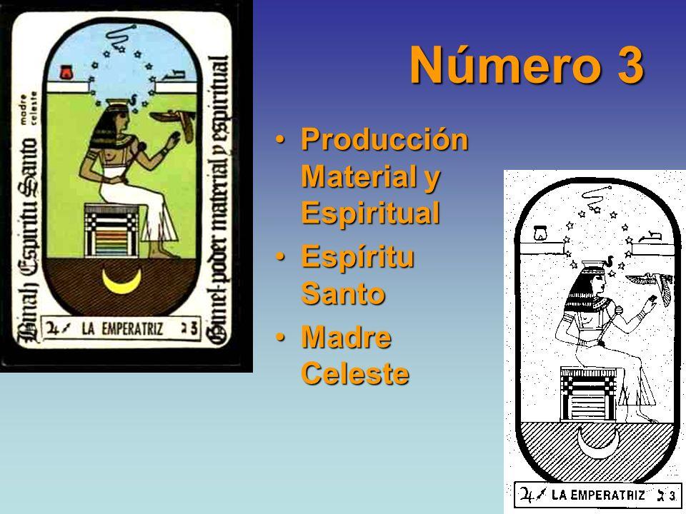 Número 3 Producción Material y EspiritualProducción Material y Espiritual Espíritu SantoEspíritu Santo Madre CelesteMadre Celeste
