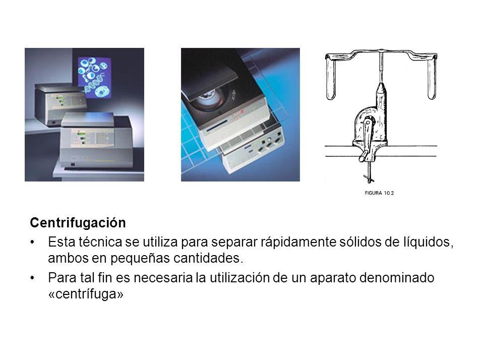 Centrifugación Cuando se centrifugue material biológico potencialmente infeccioso deben utilizarse tubos cerrados.