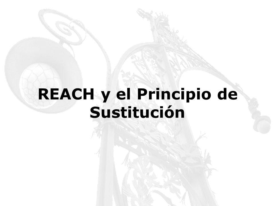 REACH y el Principio de Sustitución