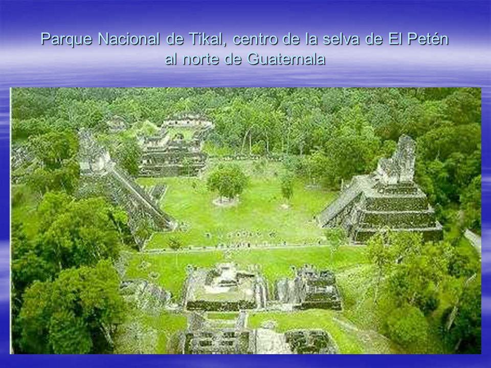 Parque Nacional de Tikal, centro de la selva de El Petén al norte de Guatemala