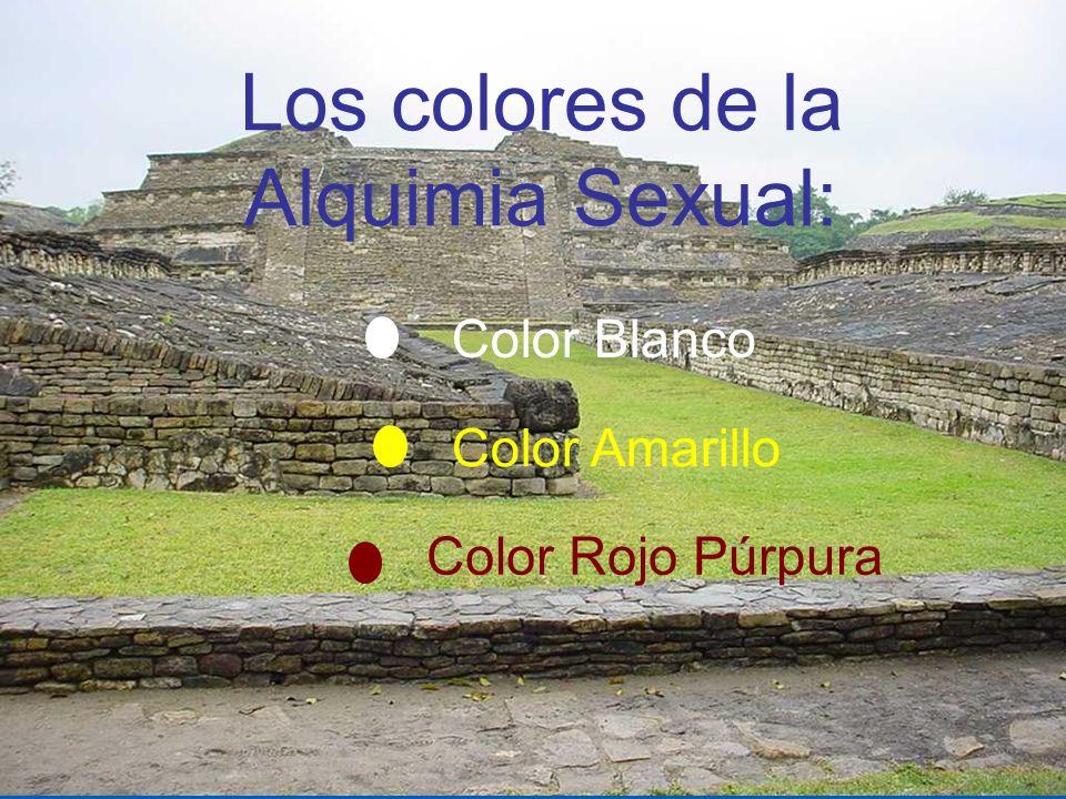 Los colores de la Alquimia Sexual: Color Blanco Color Amarillo Color Rojo Púrpura