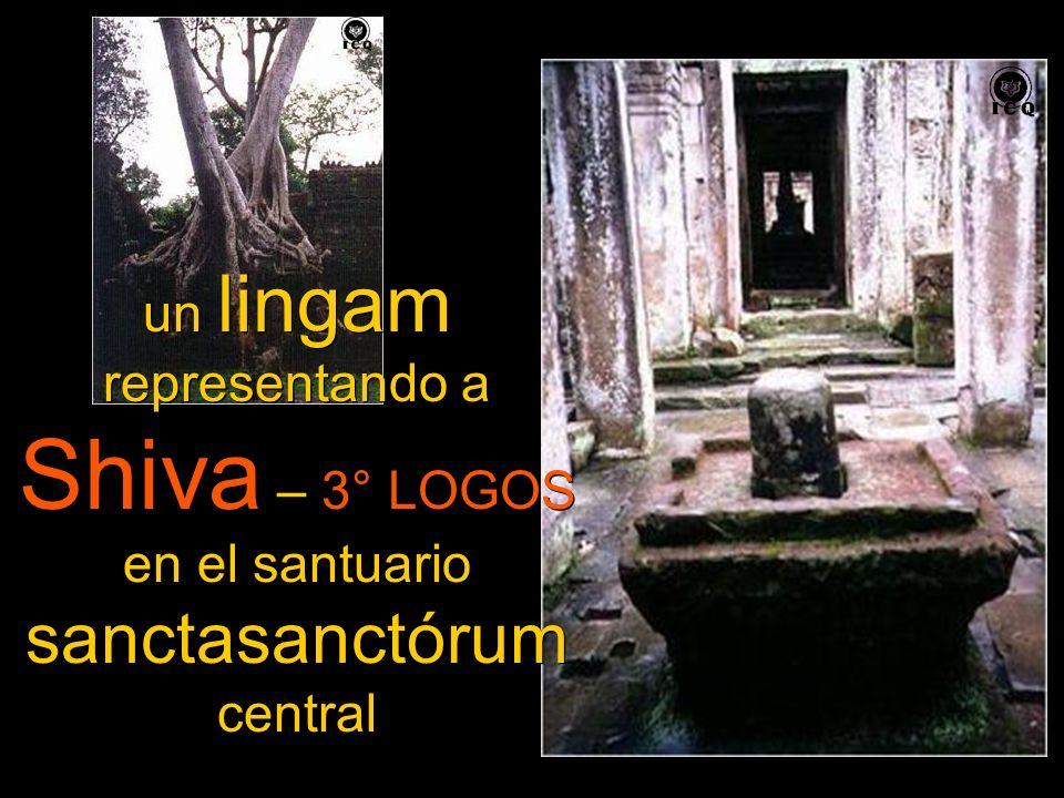 un lingam representando a Shiva – 3° LOGOS en el santuario sanctasanctórum central