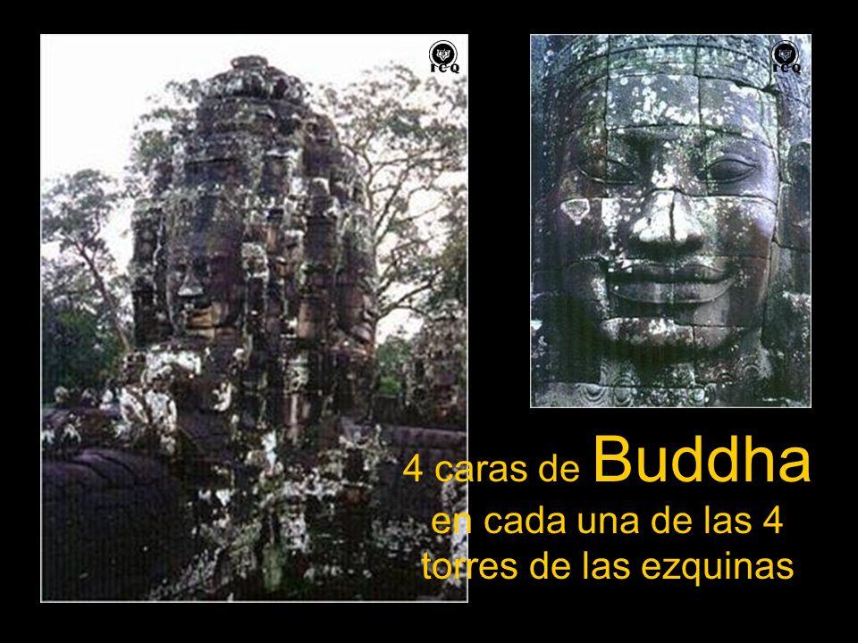 4 caras de Buddha en cada una de las 4 torres de las ezquinas