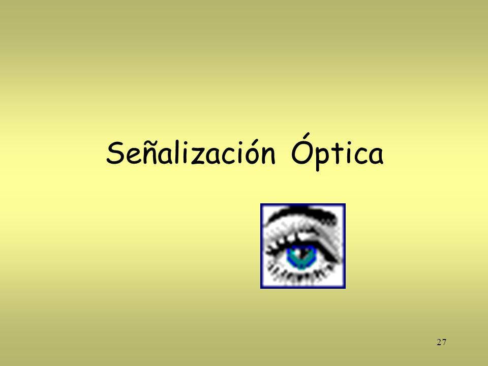 27 Señalización Óptica