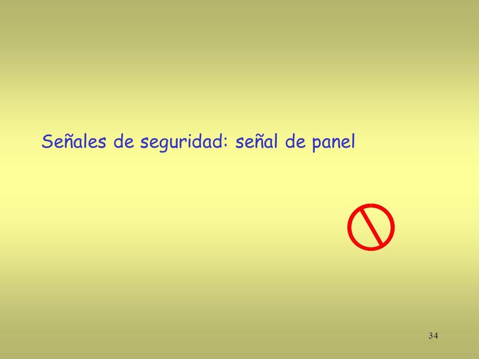34 Señales de seguridad: señal de panel