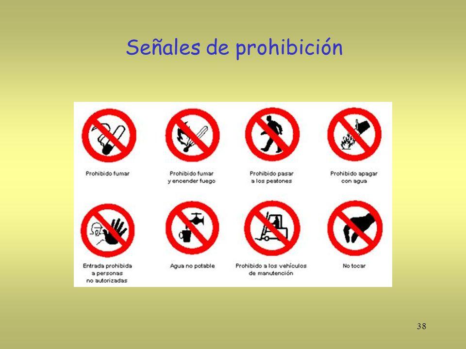 38 Señales de prohibición